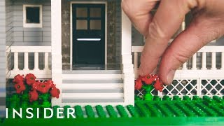 Mini Lego Houses Replicate Real Homes