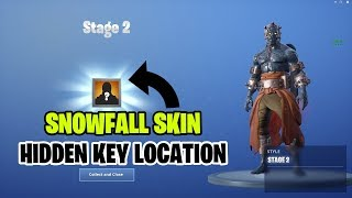 Fortnite Snowfall Skin Stage 2 Hidden Key Location