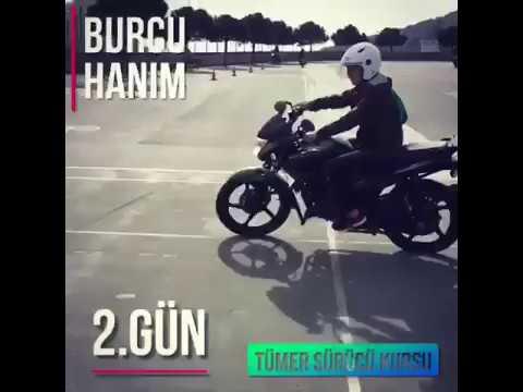 Motosiklet Eğitimi Burcu Hanım -2.Gün - Tümer Sürücü Kursu