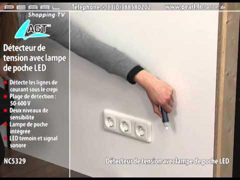 NC5329-DÉTECTEUR DE TENSION AVEC LAMPE DE POCHE LED