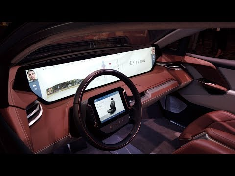 Massive Dashboard on Byton EV at CES 2019