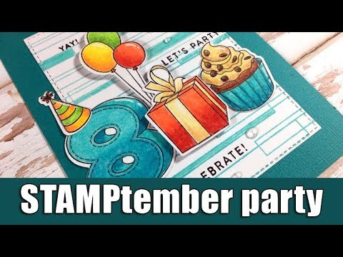 birthday card | STAMPtember blog party