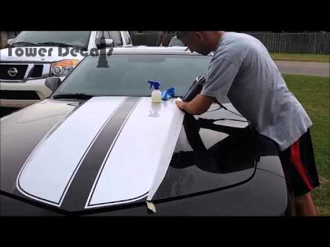 Camaro Hood Spears Vinyl Decal Installation Youtube