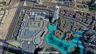 360 Dubai - View From Top of Burj Khalifa-3D