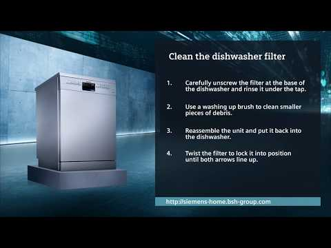 How do I clean my dishwasher filter?