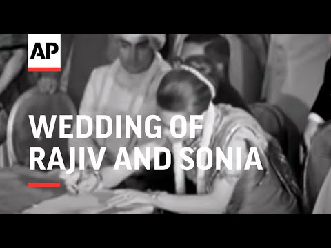 Wedding Of Rajiv and Sonia - NO SOUND - 1968