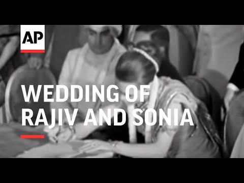 Wedding Of Rajiv and Sonia - NO SOUND - 1968