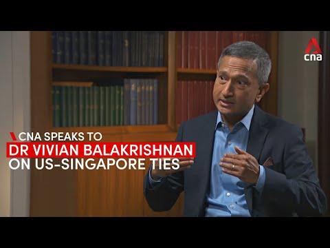 Singapore foreign affairs minister Vivian Balakrishnan on US-Singapore relations