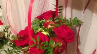 Корзина с фруктами и розами!подарок своими руками