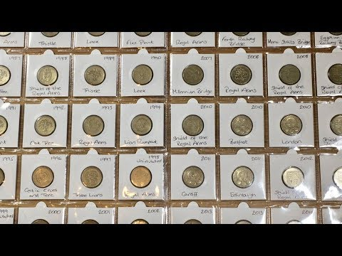 *RARE* EVERY £1 COIN EVER!! || ONE POUND DATE RUN 1983 - 2017 || INCLUDES 5 NEVER RELEASED
