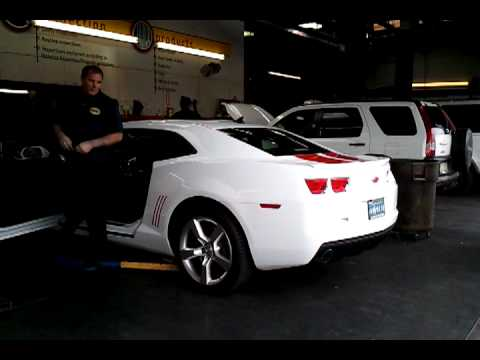 SS Girl (Lori) Gets Straight Pipes on her 2010 Camaro - 27 N
