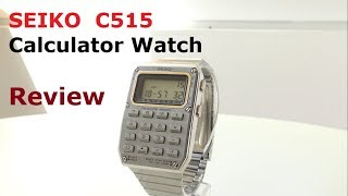 Seiko C515 Calculator Watch Review & GIVEAWAY - Ep 61 - Vintage Digital Watches