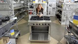 Газовая плита CustomHeat GR 6-36 с шестью горелками и духовкой   Видео обзор