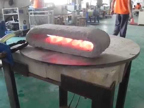 Heating Steel Rods with Across International 25kW Low-Frequency Induction Heater