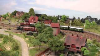 Amazing Model Train Layout in Z Scale