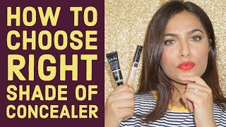 HINDI - How to choose RIGHT shade of CONCEALER | Beginners Makeup Tips & Tricks | Anubha