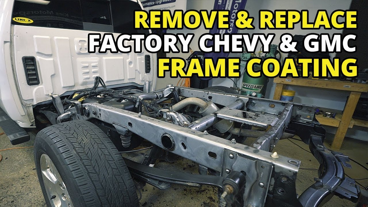 Number 1 Silverado Issue How To Fix Gmc And Chevy Frame Rust And Undercoating Sierra Tahoe Youtube