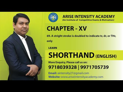 chapter 15  (Contd..)  a straight stroke is doubled to indicate to tr, dr, THr only 06 02 2020