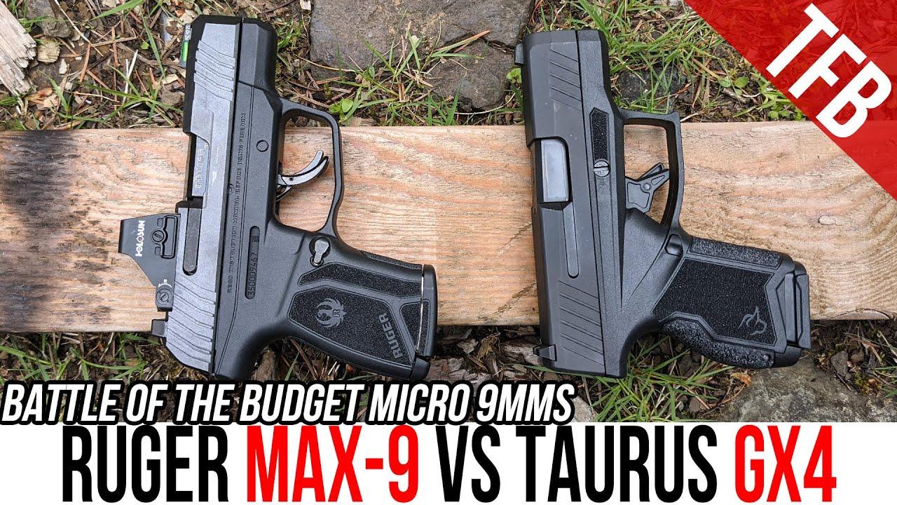 Ruger Max-9 vs Taurus GX4: Battle of Budget Micro 9mms