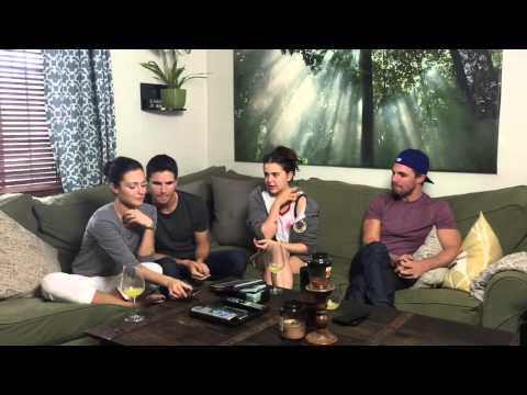 Stephen Amell,Italia Ricci,Robbie Amell Sat down for a tastic chat with Mae Whitman