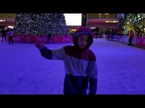 Jedd and Jace first time Ice Skating at LA Live