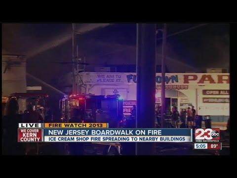Fire burns down over 30 business on New Jersey Boardwalk