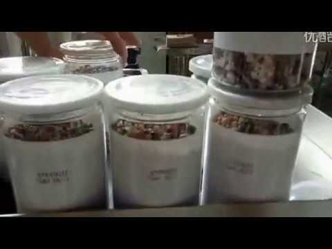 Automatic filling seaming cap pressing labeling line for scented tea coffee herbal medicine cans