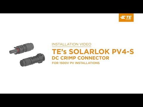 TE's SOLARLOK PV4-S DC Crimp Connectors