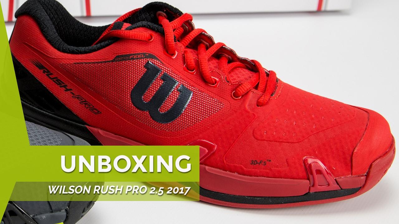 pretty nice e57df 4142d Unboxing zapatillas Wilson Rush Pro 2.5 Rojas