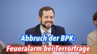 Abbruch der BPK: Feueralarm bei Terrorfrage