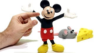 Mickey Mouse & Superhero Play Doh Cartoons  Stop Motion for kids