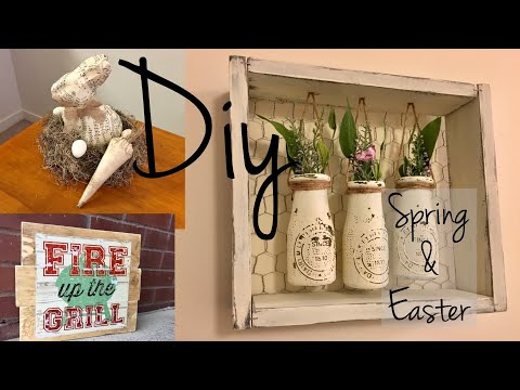 DIY DOLLAR TREE FARMHOUSE/SHABBY CHIC SPRING & EASTER DECOR!!!