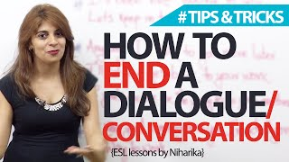 How to end a conversation? Spoken English Lesson
