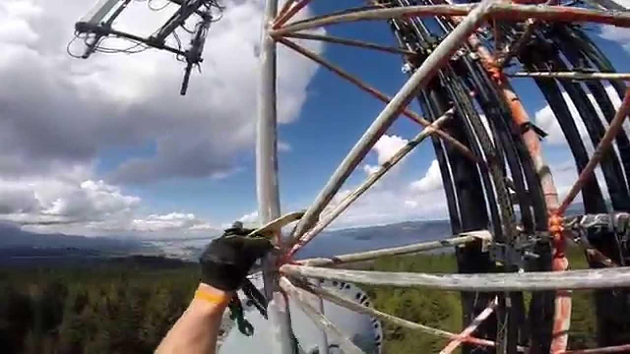 Maple Mountain Cell Phone Tower Climb Duncan B C Youtube