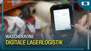 L-mobile warehouse im Einsatz bei Wäschekrone