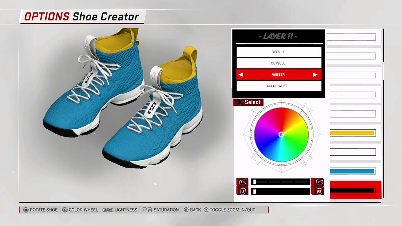 ca603ce6cc05 NBA 2K18 Shoe Creator - Nike LeBron 15 PE