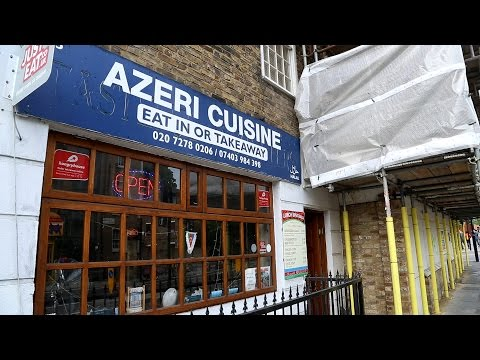 Lady Gaga, Hari Krishnas and Ilham Aliyev down at Azeri Cuisine on Caledonian Road, Islington.