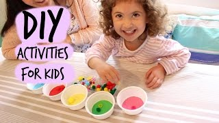 Three Fun, Inexpensive, Diy Learning Activities For Small Children.