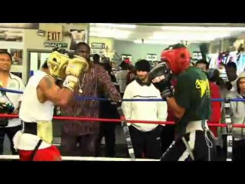 Manny Pacquiao vs Mayweather Sparring match
