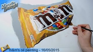m&m's oil painting - 16/05/2015 LIVE Art - 7th day