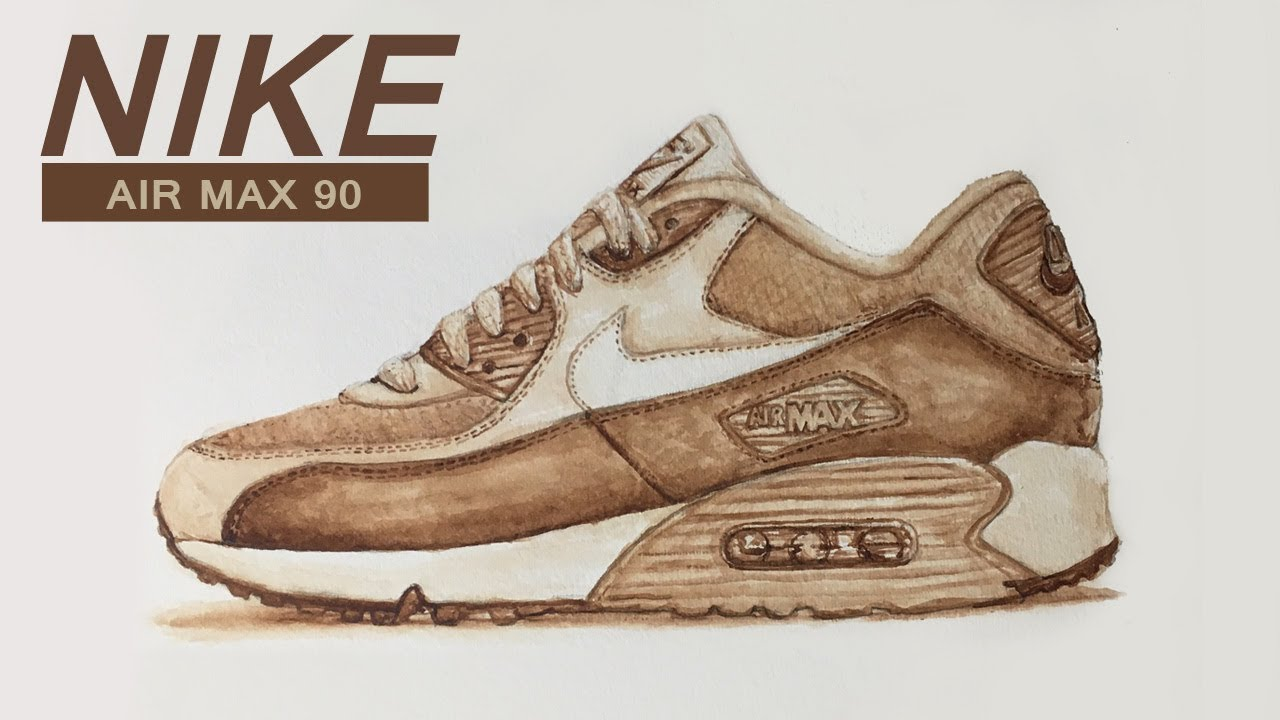 newest d8335 0f103 I CUSTOM Painted (NIKE AIR MAX 90) Shoes with Coffee - HD