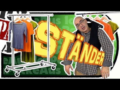 amazonbasics-garment-rack---stabiler,-rollbarer-kleiderständer---aufbau-/-test-/-unboxing