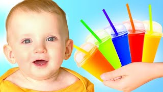 Five Kids pretend play cooking fruit smoothies