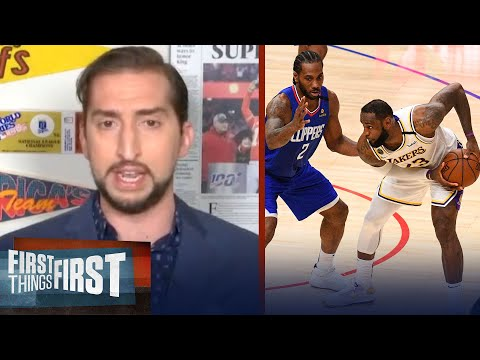 Nick Wright Makes NBA Playoff Picks For 16 Team Conference Free Format | NBA | FIRST THINGS FIRST