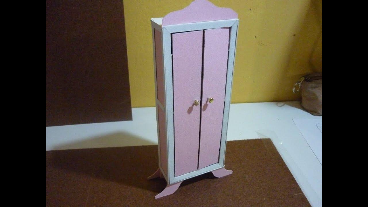 Como hacer un mueble para mu ecas de papel cascaron parte - Como hacer un mueble de salon ...