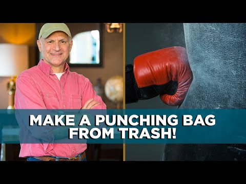 How To Build A Punching Bag Out Of Trash Youtube