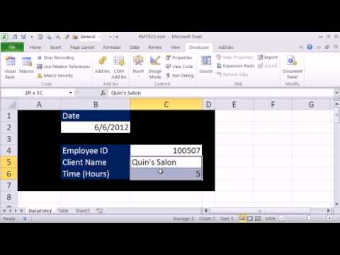 Excel Magic Trick Recorded Macro Basics Click Button To Move Data To Table On Another Sh
