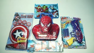 Spider-Man Face piggy bank,Marvel Avengers Pencil Box,Marvel Avenger Captain America Shield Others