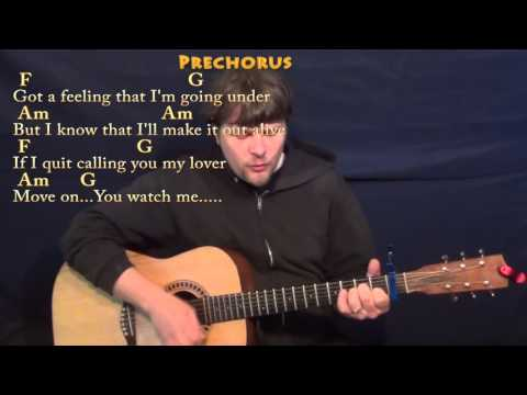 Stitches (Shawn Mendes) Strum Guitar Cover Lesson with Chords/Lyrics - Capo 1st