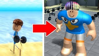 WE GET STRONG WITH ARMORED HAIR ON ROBLOX!!